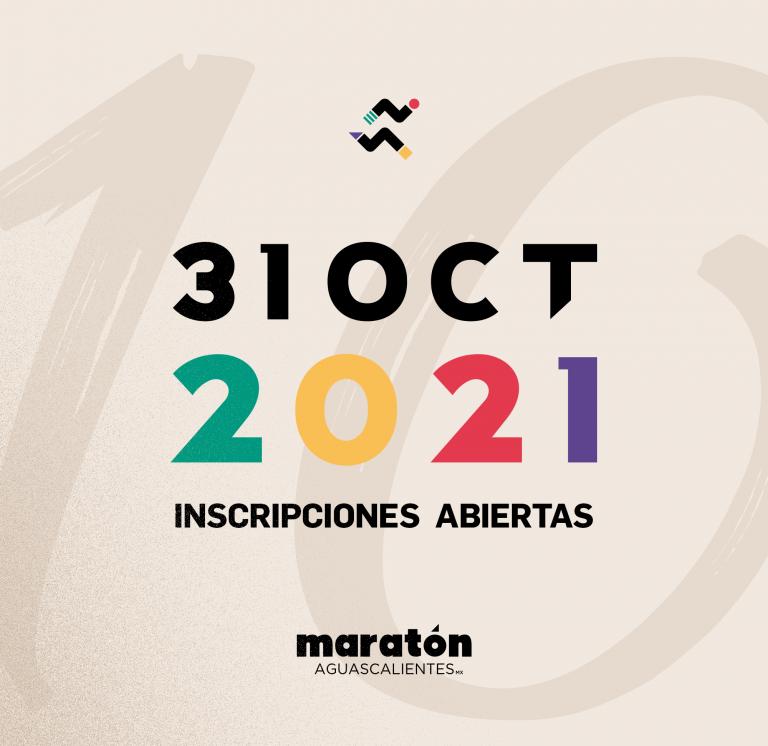 Corre el Maratón Aguascalientes 2021 en octubre