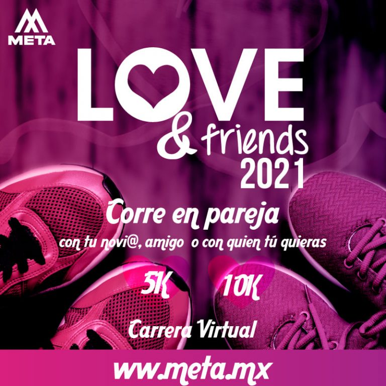 Celebra el día del amor corriendo con tu pareja en Love & Friends Virtual Run 2021