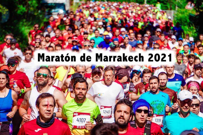 Maratón de Marrakech corre en una antigua ciudad imperial en el oeste de Marruecos