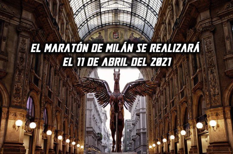El Maratón de Milán se realizará el 11 de abril del 2021