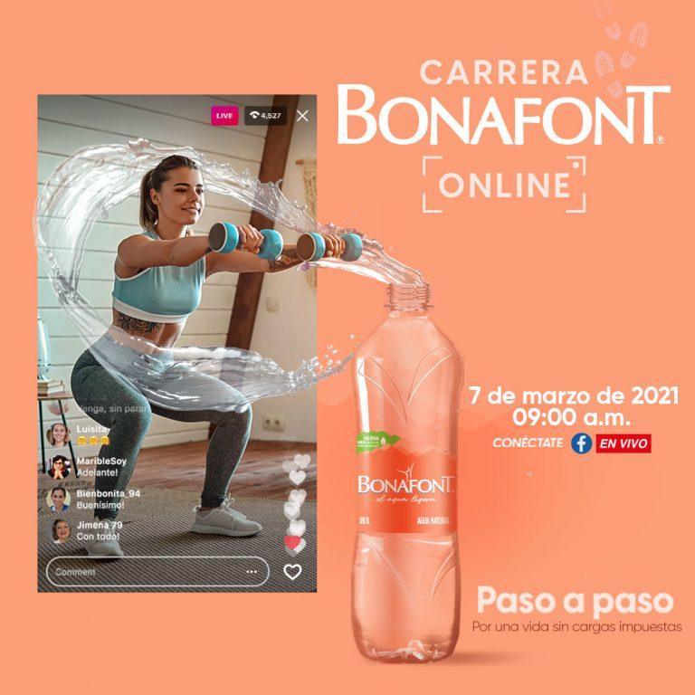Carrera Bonafont Online 2021 invita a las mujeres a aligerarse de las cargas y avanzar juntas