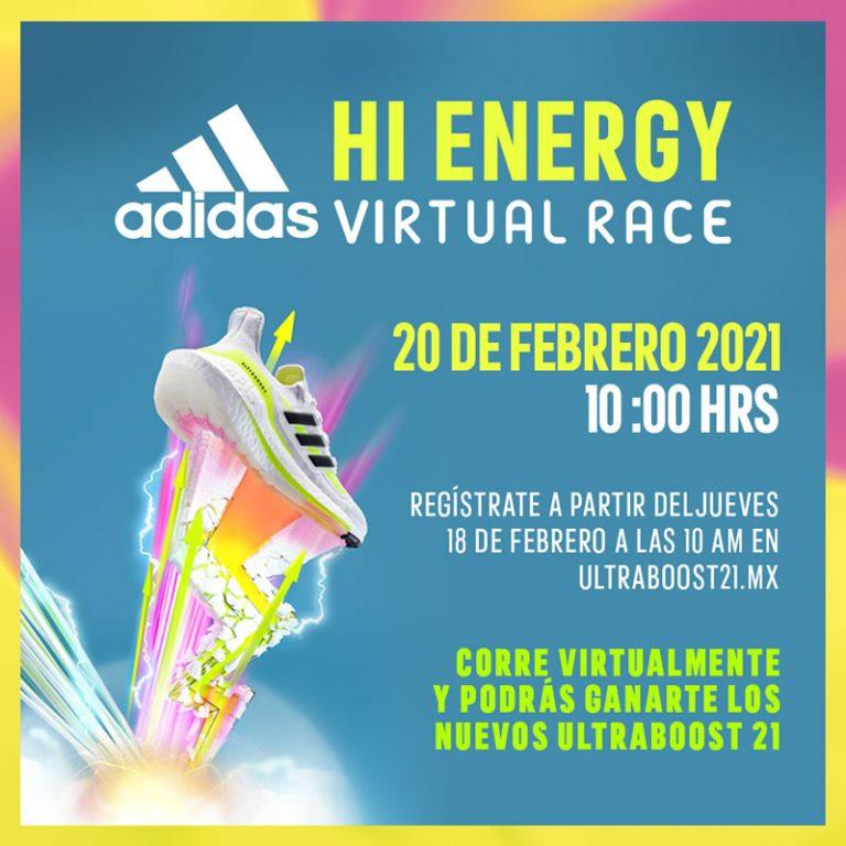 """ADIDAS RUNNING TE INVITA A PARTICIPAR EN SU RETO DIGITAL """"HI ENERGY VIRTUAL RACE"""""""