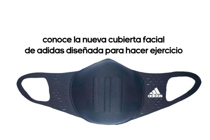 Conoce la nueva cubierta facial de adidas diseñada para hacer ejercicio