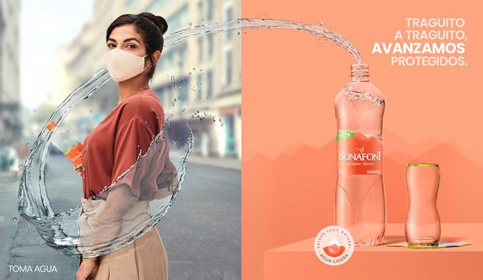 "Bonafont lanza la campaña ""Traguito a Traguito"" a fin de promover hábitos saludables de hidratación en México."