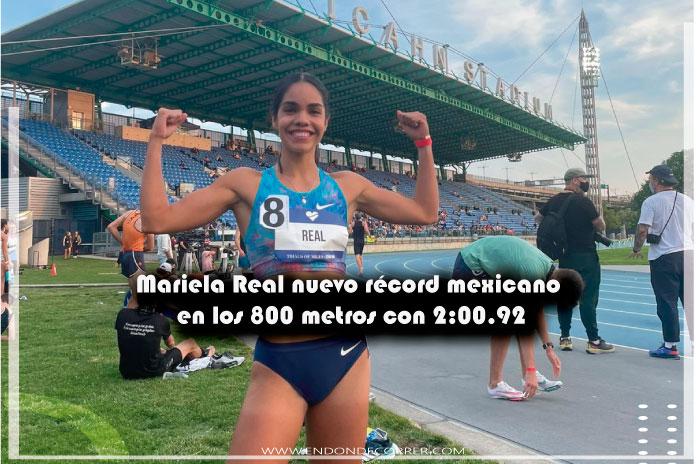 Mariela Real nuevo récord mexicano en los 800 metros con 2:00.92