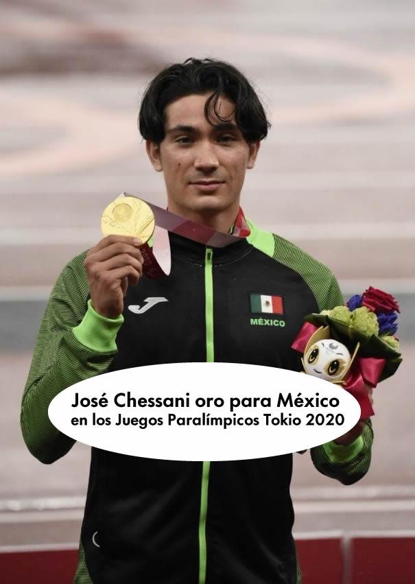 José Chessani oro para México en los Juegos Paralímpicos Tokio 2020