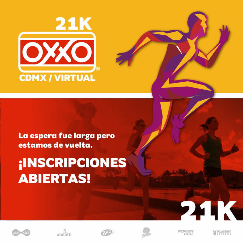 carrera virtual OXXO 2021