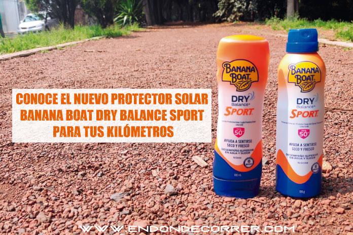 Conoce el nuevo protector solar Banana Boat Dry Balance Sport para tus kilómetros